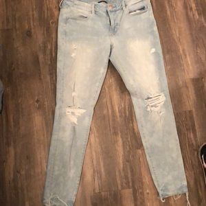 American Eagle Distressed jeans.